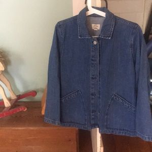 J. CREW Denim Chore Coat Jacket // Size Small